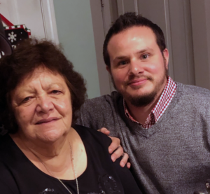 Chef Luca with his Grandmother.